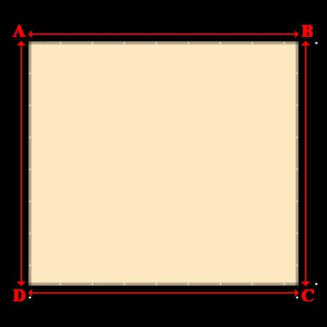 Bâche plate rectangle en Protect cover 705 670gr/m², toile PVC Etanche Beige ral 1015 - 4.58x4.14m